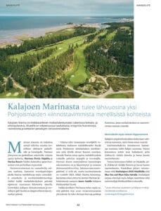 Kalajoen Marina on näyttävästi esillä Veneilijän kesä -liitteessä Vene-lehdessä ja Kippari-lehdessä kesäkuussa 2021.